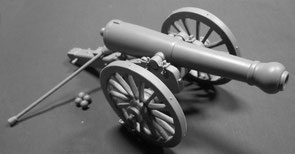 Cannone d'assedio 24-pdr ACW - Scala 1/24 - 75mm
