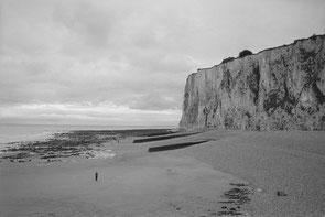 jeromedevismes. les falaises de Mers-les-Bains à marée basse