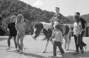 jeromedevismes. Un seigneur sur son ane en Corse, plusieurs enfants