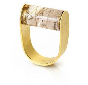 Besondere Ringe Rutilquarz Gold Eva Slotta Jewellery