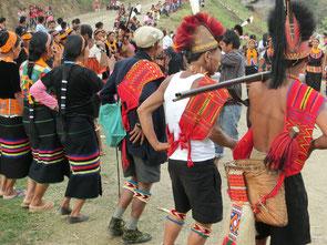 TänzerInnen beim Aeoling-Festival, Nagaland
