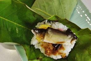 夏の香り鮎のほうば寿司鮎会席香魚料理清流付知川青川付知峡