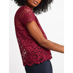Samsoe & Samsoe red lace top