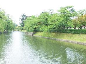 鶴岡公園お堀