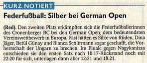 Westdeutsche Zeitung Bericht vom 02.12.2004