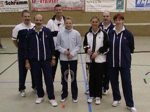 4.Mannschaft v.l.: HaPe Ziegner, Peter Röder, Michael Rottmann, Danny Blaß, Snjezi Rottmann, Hanni Müller und Sylvia Braun