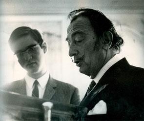 Avec Salvador Dali 1967