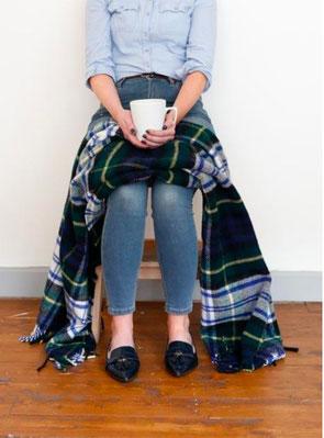Schottische Knie-Stola aus reiner Schurwolle von The Tartan Blanket Co.