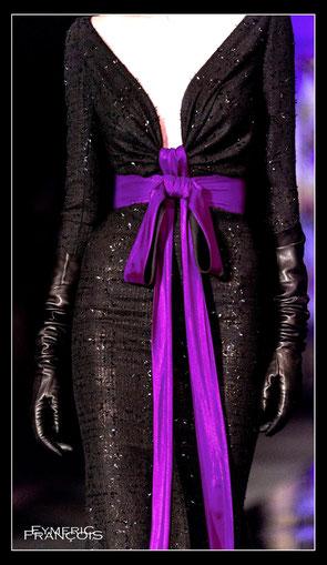Black Lurex & Purple silk