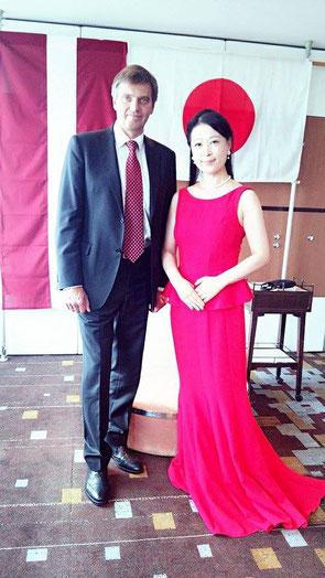 With Mr.Penke Ambassador of the Republic of Latvia ラトヴィア ペンケ駐日全権特命大使閣下と。