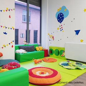 Création décoration murale crèche petite enfance