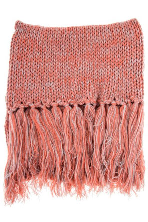 Two Tone Long Fringe Scarf