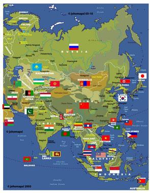 Japan, China, Malaysia, Vietnam, etc.