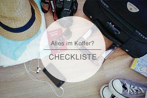Checkliste Kofferpacken, Koffercheckliste