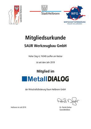 Die Saur GmbH ist Mitglied im MetallDialog.