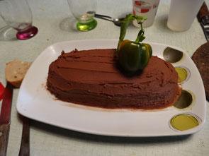 Le must, la bûche châtaigne/chocolat pour mon départ (miam!)