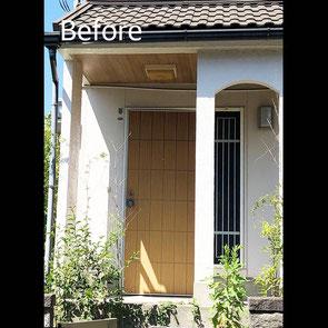 玄関ドア1 Before マスタードリフォーム