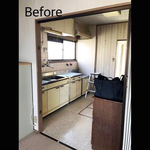 垂水区 キッチン1 Before マスタードリフォーム