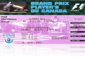 Unsere Eintrittskarte (das waren stolze Preise Training 35 Dollar, Rennen 100 Dollar
