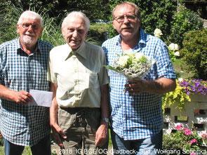 Foto: IG BCE OG Gladbeck-Süd; Glückwünsche zum 80 Geburtstag;Günter, Werner, Joachim