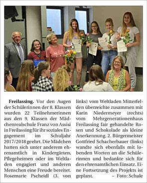 (Quelle: Freilassinger Anzeiger, 08.08.2018)