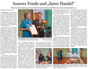 Artikel erschienen im Freilassinger Anzeiger