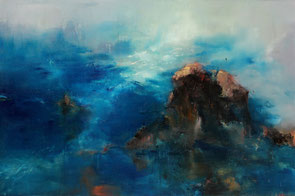 深蓝 DEEP BLUE 210X145CM 布面油画 OIL ON CANVAS 2006