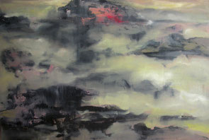 雨山2 RAINING MOUNTAIN 2 100X150CM 布面油画 OIL ON CANVAS 2005 (收藏于德国 COLLECTED IN GERMANY)