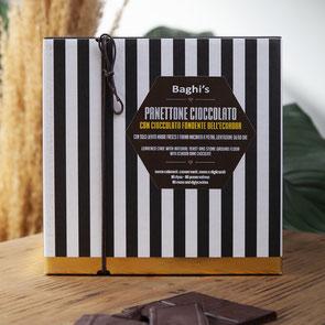 PANETTONE Baghi's 750gr con chocolate negro BIO y vanilla de Madagascar (34,50€  und)