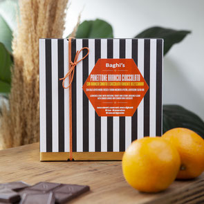 PANETTONE Baghi's 750gr con chocolate negro de Ecuador, naranja confitada y vanilla de Madagascar (34,50€)