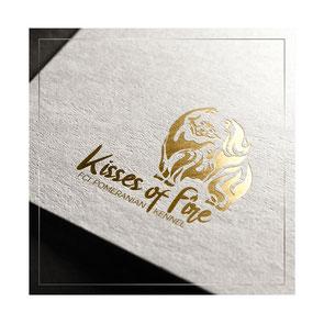best luxury gold golden elegant dogs pets logod fire design ideas order Kisses of Fire kennel FCI