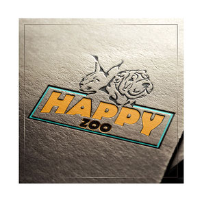 luxury business logo design; internet pets zoo shop store logotype Happy Zoo; luxury pets animals ideas