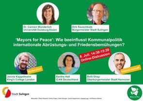 GRÜNE SULINGEN Mayors for Peace
