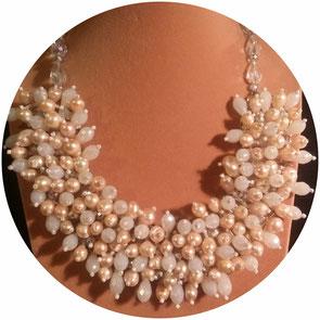 collier perle de culture d'eau douce, bijoux perle de culture d'eau douce