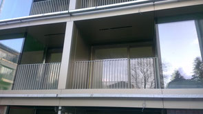 Verkleidung Balkone mit Aluminiumverbundblechen