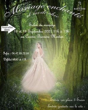 Salon du Mariage de Menton - 6 et 7 Février 2021
