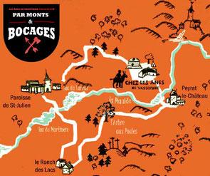randonnée Monts et Bocages avec un âne