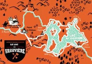 vacances en famille en Limousin : randonner avec un âne autour du lac de Vassivière
