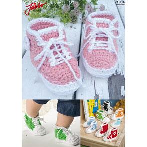Gehäkelte Schuhe für Babys