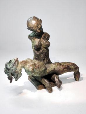Figur 267B + 268, Bronze, 2015, 21,5x26x13,5cm
