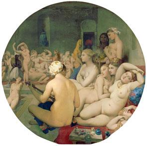 Ingres, Le Bain turc, 1862. Source : Wikipedia, Domaine public.