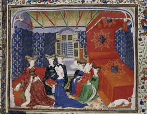 Christine de Pizan et la Reine Isabeau, 1410-1414.