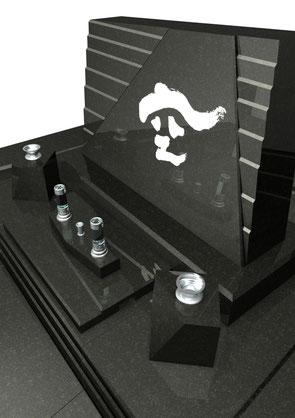 デザイナーズ墓石MemoireMaChereダァム