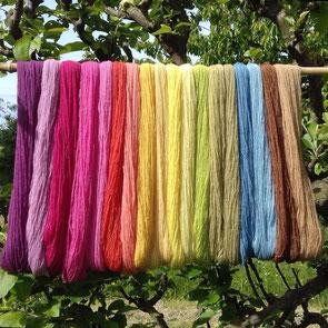 couleur naturelle, teinture textile, laine, soie, magasin de laine, développement durable