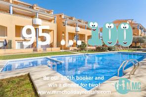 100th booker MMC Holiday Rentals