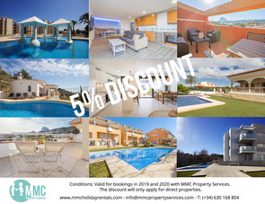 Discount holiday rentals Javea