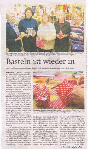 Holsteinischer Courier, 4.November 2010