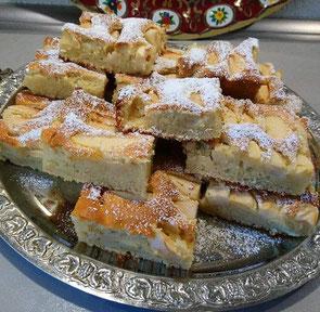 türkischer Apfel- Mandel Blechkuchen