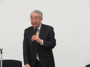 講演中の工藤先生     写真:佐伯 健会員