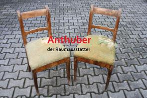 Bild: So sahen die Biedermeier Stühle vor der Restaurierung aus